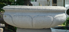 42 Dia x 16 H Stastny Stone Pots Hand-Carved Custom Large Concrete Planter